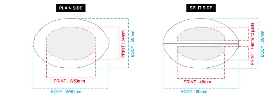 楕円(Oval)サイズスペック